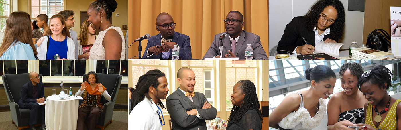 A collage of images of faculty and students from the African American and African Diaspora Studies Department at Columbia University